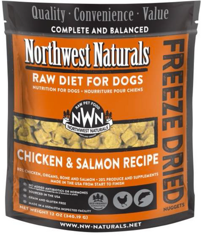 Northwest Naturals - Freeze Dried Raw Chicken & Salmon (12oz) | Freeze Dried Food