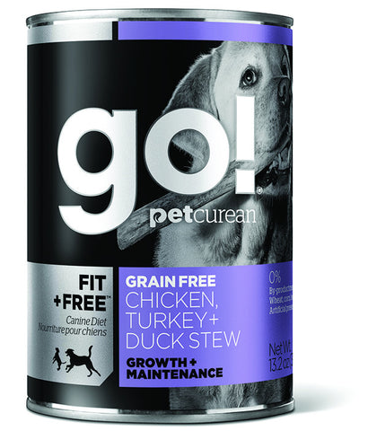 Petcurean Go! Grain Free Chicken, Turkey & Duck Canned Dog Food | Wet Food