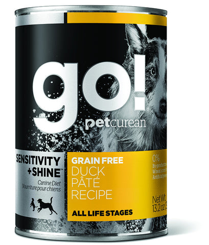 Petcurean Go! Grain Free Duck Pate Canned Dog Food | Wet Food