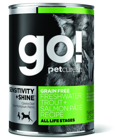 Petcurean Go! Grain Free Trout & Salmon Pate Canned Dog Food | Wet Food