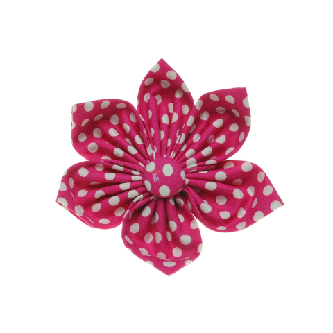 Handmade For Pets - Polka Dot Flowers (Pink) | Fashion