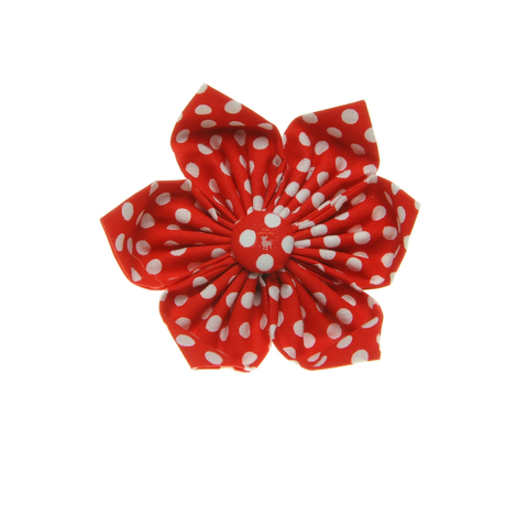 Handmade For Pets - Polka Dot Flowers (Red) | Fashion