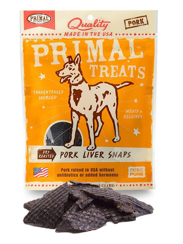 Primal Dry Roasted Pork Liver Snaps | Treats - 1