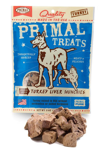 Primal Freeze-Dried Turkey Liver Munchies | Treats - 1