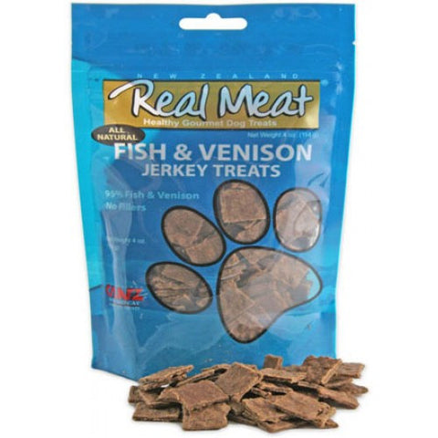 Real Meat Fish & Venison Jerky 4oz | Treats