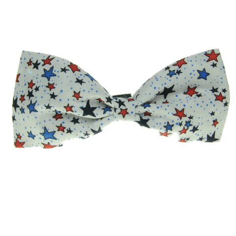 Handmade For Pets - Reach For The Stars Bowtie (White) | Fashion