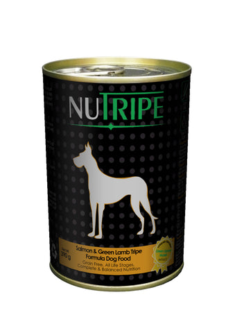 Nutripe Salmon With Green Lamb Tripe & Added Green Lipped Mussel Extract Dog Food (390g) | Wet Food