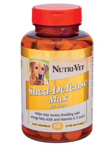 NutriVet Shed Defense Max Liver Chewables | Canine Supplements