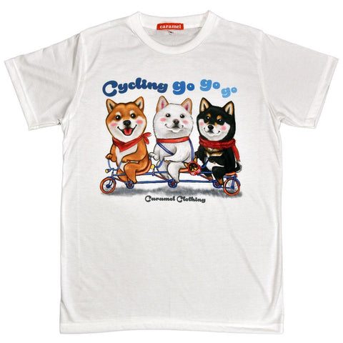 Shibas Gone Cycling Unisex Graphic T-shirt