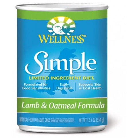 Wellness® – Grain Free Simple Solutions Lamb & Oatmeal Canned Dog Food | Wet Food