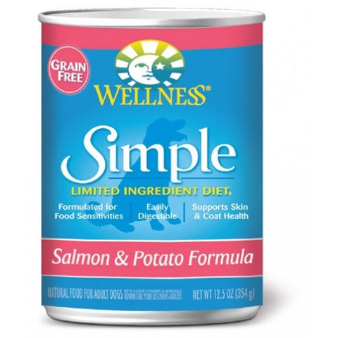 Wellness® – Grain Free Simple Solutions Salmon & Potato Canned Dog Food | Wet Food