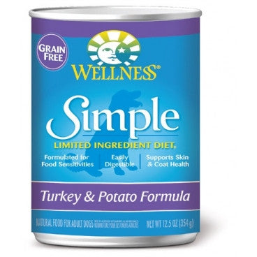 Wellness® – Grain Free Simple Solutions Turkey & Potato Canned Dog Food | Wet Food