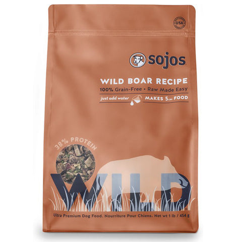 Sojos - Freeze Dried Raw Wild Boar Recipe (1lb) | Freeze Dried Food