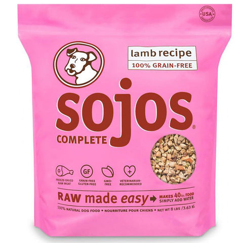 Sojos - Freeze Dried Raw Lamb Recipe (2lb) | Freeze Dried Food