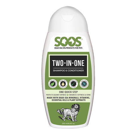 Soos Two-In-One Shampoo And Conditioner For Dogs & Cats