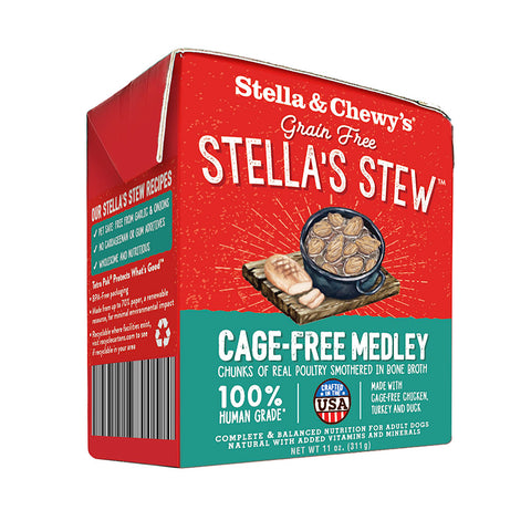 Stella And Chewy's Cage Free Medley Wet Dog Food 11oz