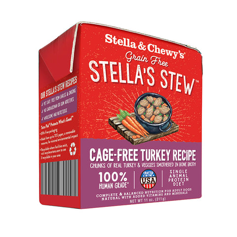 Stella And Chewy's Cage-Free Turkey Wet Dog Food 11oz