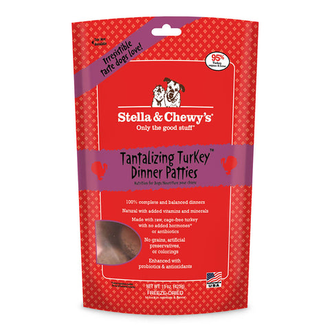(Buy 2 For $90) Stella & Chewy's Tantalizing Turkey Freeze Dried Dog Food 15oz