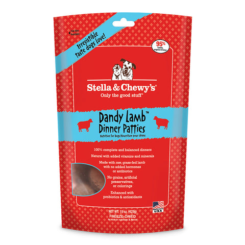 Stella & Chewy's Dandy Lamb Freeze Dried Dog Food 15oz | Freeze Dried Food