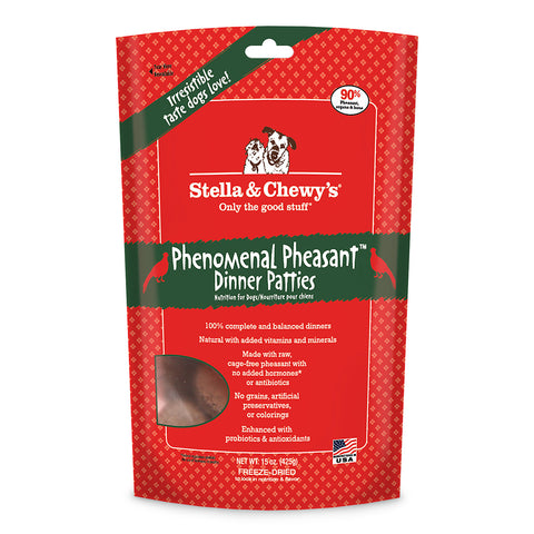 Stella & Chewy's Phenomenal Pheasant Freeze Dried Dog Food 15oz | Freeze Dried Food