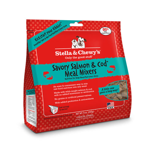 Stella & Chewy's Chewy's Savory Salmon & Cod Mixer Dog Food 9oz | Freeze Dried Food