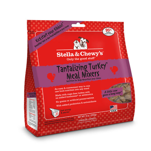 Stella & Chewy's Chewy's Tantalizing Turkey Mixer Dog Food 9oz | Freeze Dried Food