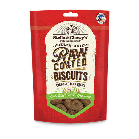 Stella & Chewy's Raw Coated Duck Biscuit Dog Treats