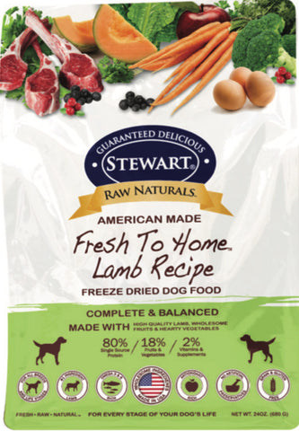 Stewart® Raw Naturals™ Freeze Dried Lamb Recipe 24oz | Freeze Dried Food