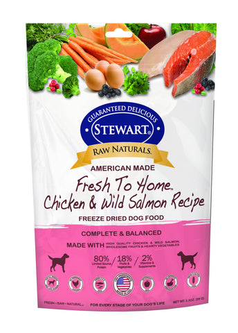 Stewart® Raw Naturals™ Freeze Dried Chicken & Salmon Recipe 3.5oz | Freeze Dried Food