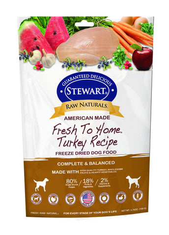Stewart® Raw Naturals™ Freeze Dried Turkey Recipe 12oz | Freeze Dried Food