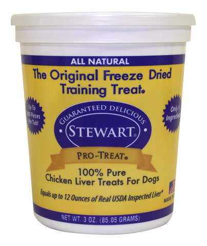 Stewart Pro-Treat® Freeze Dried Chicken Liver Treats 3oz | Treats