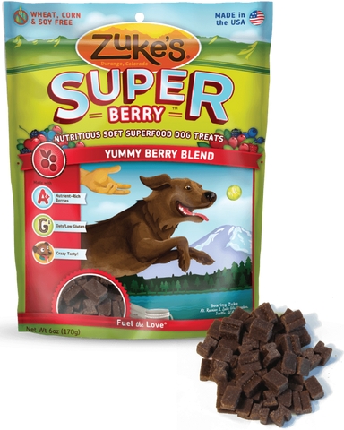 Zuke's: Nutritious Soft Superfood Dog Treats (Yummy Berry Blend) 170g | Treats