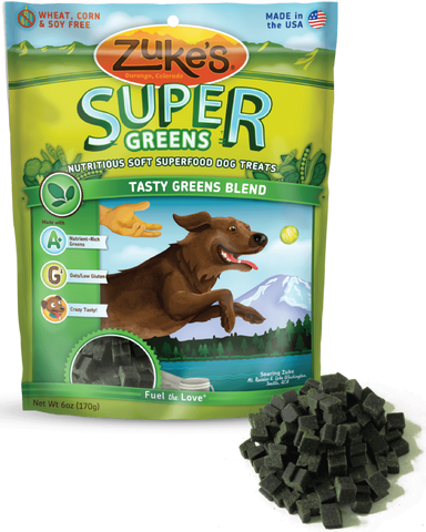 Zuke's: Nutritious Soft Superfood Dog Treats (Tasty Greens Blend) 170g | Treats