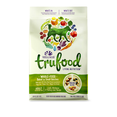 Wellness Trufood Lamb, Chickpeas & Turkey Liver Dry Dog Food (Adult) | Dog Dry Food