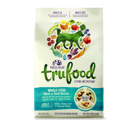 Wellness Trufood Salmon, Turkey Liver & Flaxseed Dry Dog Food (Adult) | Dog Dry Food