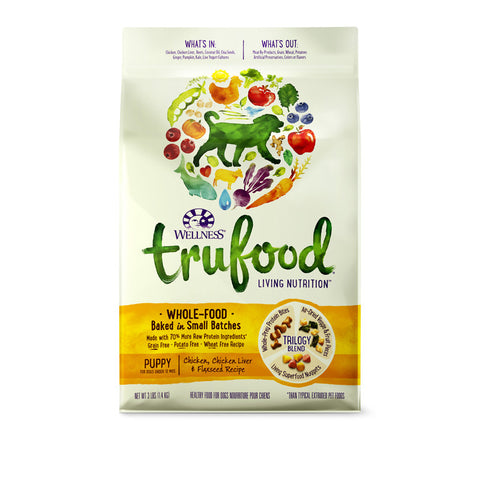 Wellness Trufood Chicken, Chicken Liver & Flaxseed Dry Dog Food (Puppy) | Dog Dry Food