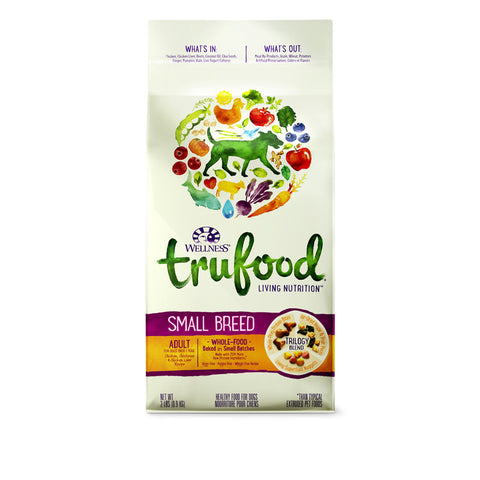 Wellness Trufood Chicken, Chickpeas & Chicken Dry Dog Food (Adult - Small Breed) | Dog Dry Food