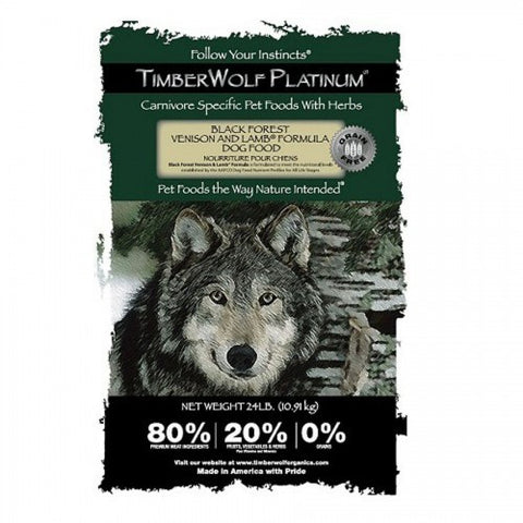 TIMBERWOLF – Platinum Formula (GRAIN FREE) Black Forest Venison & Lamb Dry Dog Food | Dog Dry Food - 1