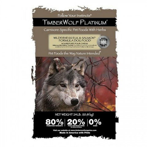 TIMBERWOLF – Platinum Formula (GRAIN FREE) Wilderness Elk & Salmon Formula Dry Dog Food | Dog Dry Food - 1