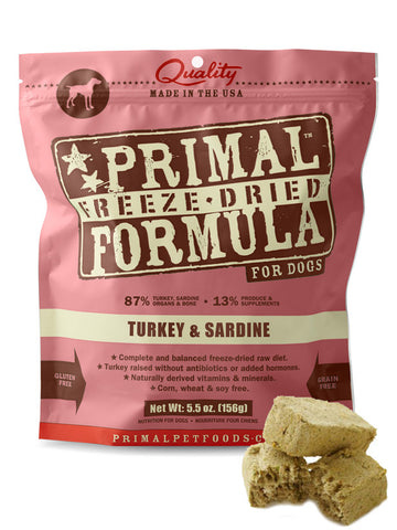 Primal Canine Turkey & Sardine (Freeze Dried) | Freeze Dried Food - 1