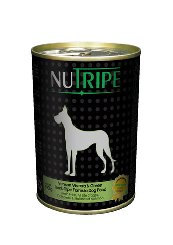 Nutripe Venison Viscera With Green Lamb Tripe & Added Green Lipped Mussel Extract Dog Food (390g) | Wet Food