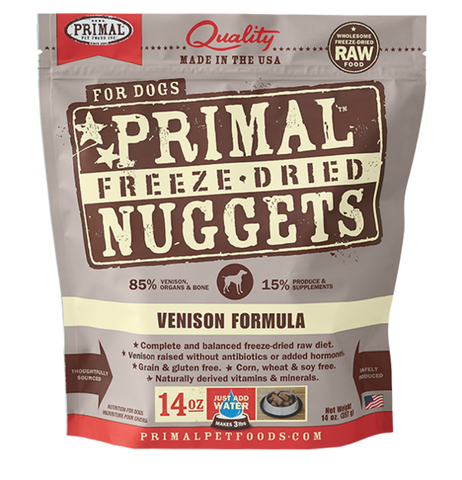 Primal Venison Formula 14oz Freeze Dried Foods For Dog