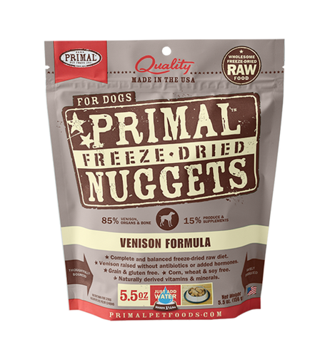Primal Venison Formula 5.5oz Freeze Dried Foods For Dog