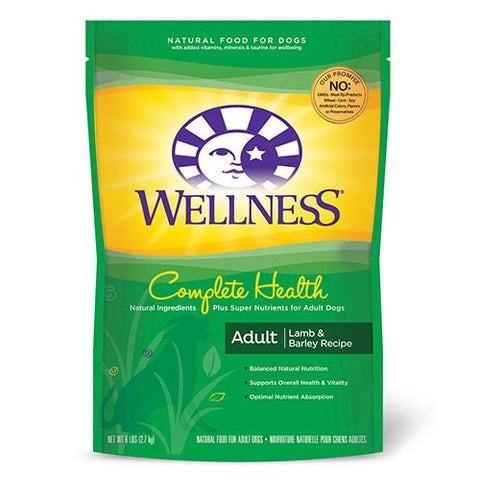 Wellness Complete Health Lamb, Barley & Salmon Dry Dog Food | Dog Dry Food - 1