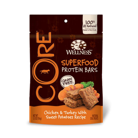 Wellness® CORE GRAIN-FREE PROTEIN BAR - Chicken & Turkey With Sweet Potatoes | Treats