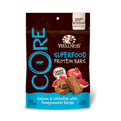 Wellness® CORE GRAIN-FREE PROTEIN BAR - Salmon & Whitefish with Pomegranates | Treats
