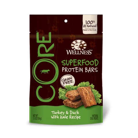 Wellness® CORE GRAIN-FREE PROTEIN BAR - Turkeyn & Duck with Kale | Treats