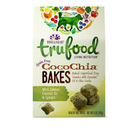 Wellness Trufood Cocochia Bakes (Salmon, Spinach & Coconut Oil) Dog Treats | Treats - 1