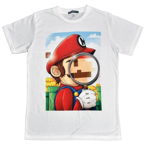 Mario Magnifying Glass Unisex Graphic T-shirt