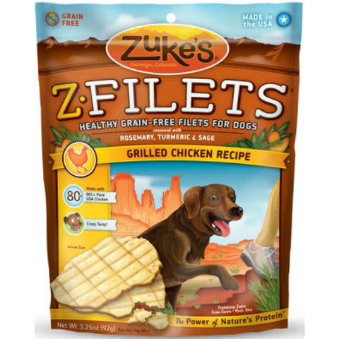 Zuke's - Z-Filets Healthy Grain Free Filets of Premium Meat (Grilled Chicken) | Treats